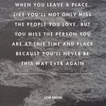 When You Leave a Place