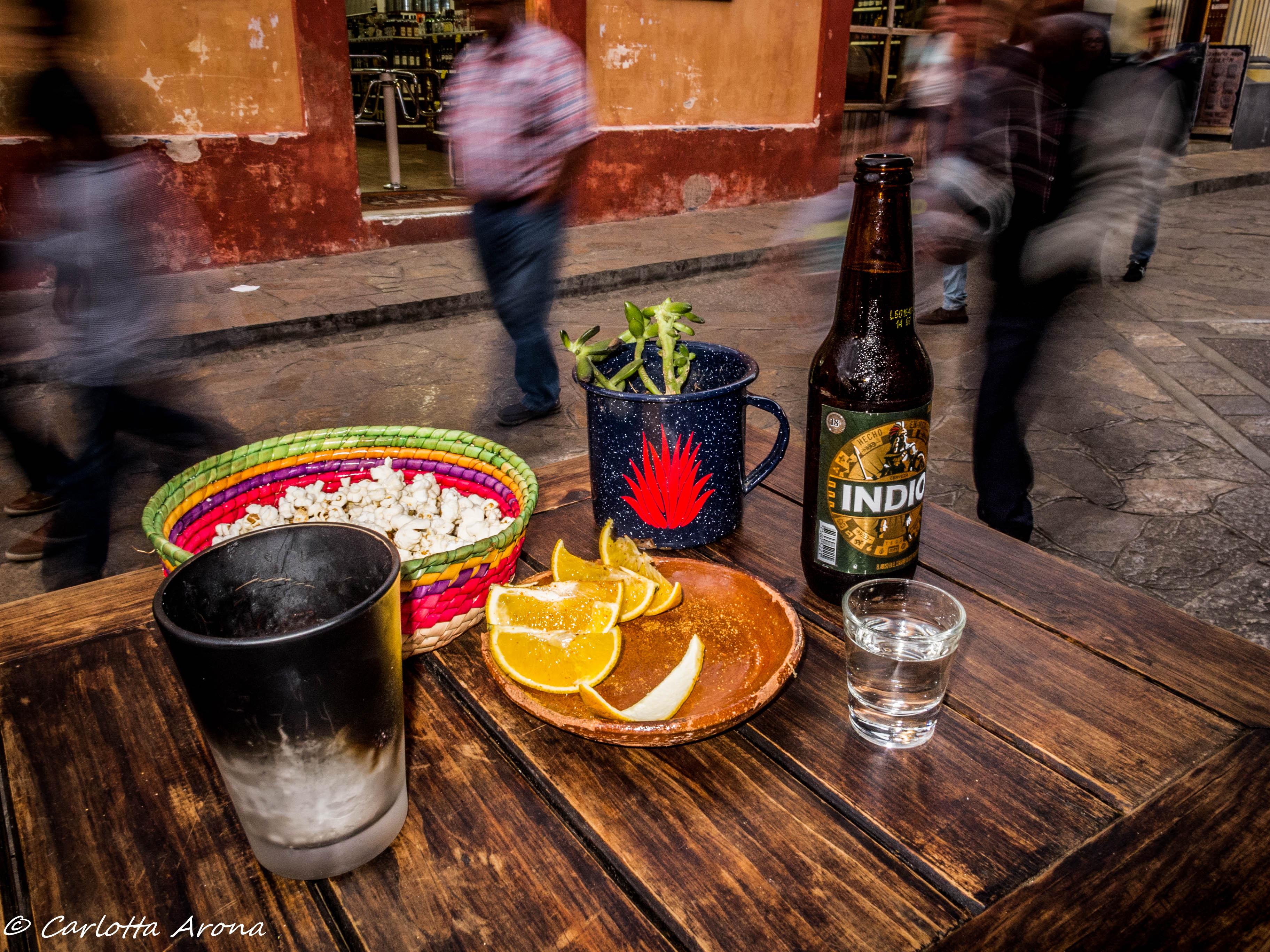 San Cristobal Beer Tequila Mezcal