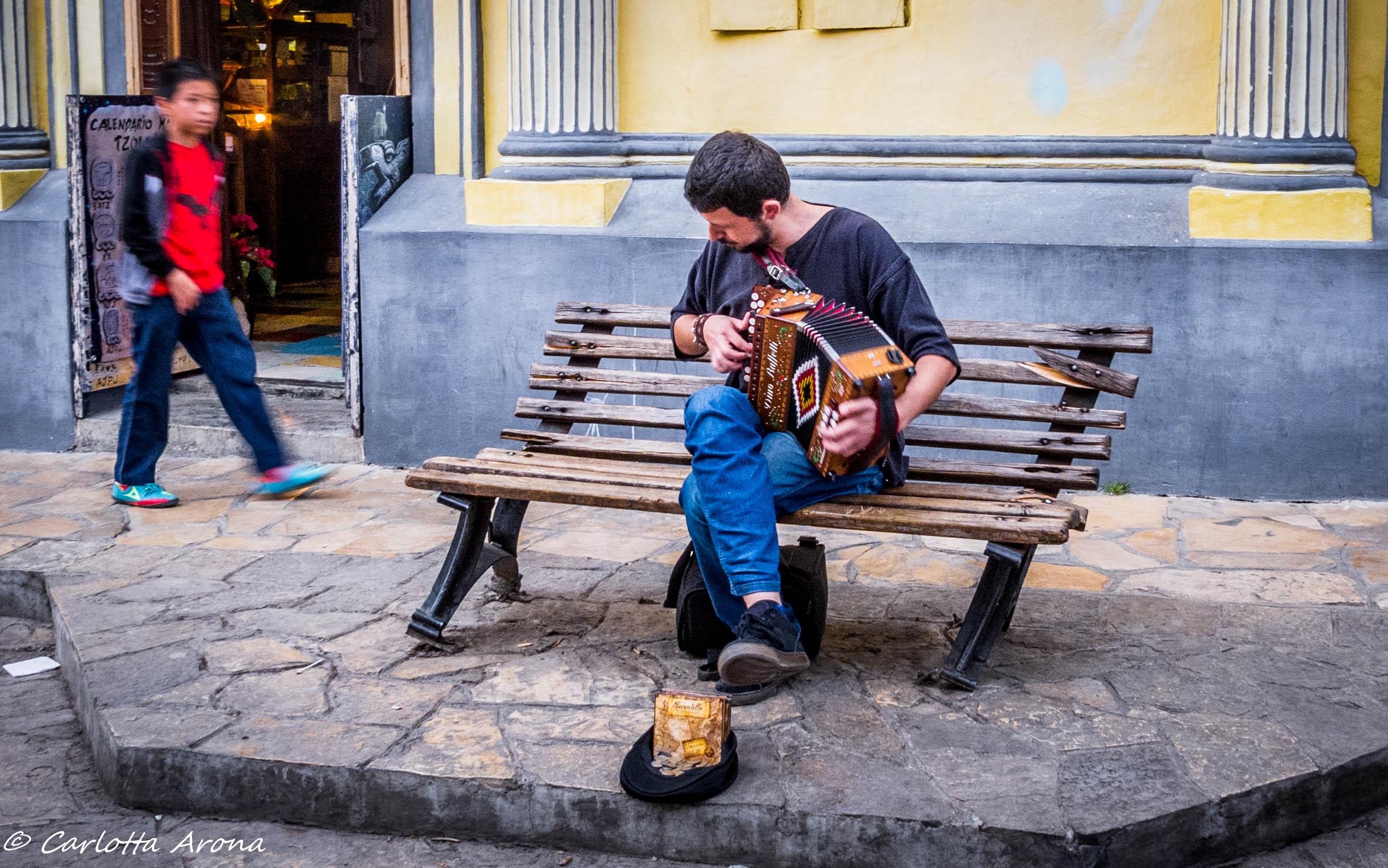 San Cristobal Street Musician Busking